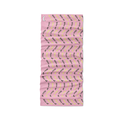 Banana Bandanas Thicc AF headband text pattern pink flat photo
