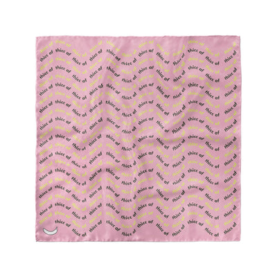 Banana Bandanas Thicc AF overripe dog bandana text pattern pink flat photo