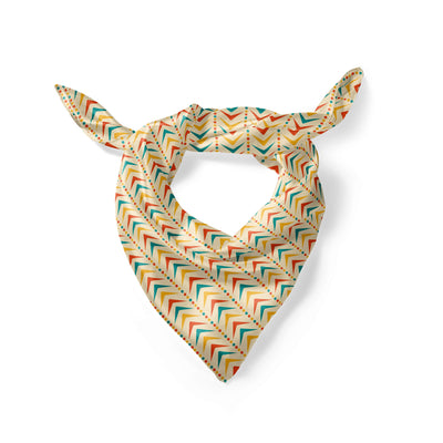Banana Bandanas to the left dog overripe bandana vintage arrow pattern dog overripe bandana folded photo