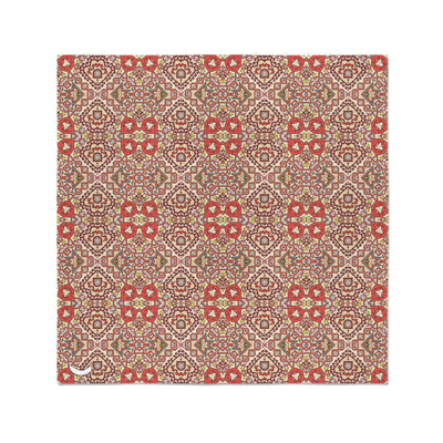 Banana Bandanas Totally Tapestry bandana geometric rug cardog red spread flat photo