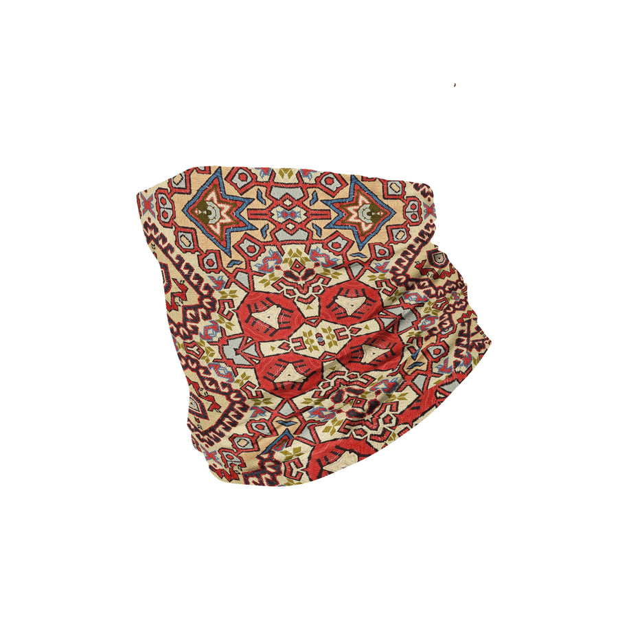 Banana Bandanas Totally Tapestry headband geometric rug cardog red spread flat photo