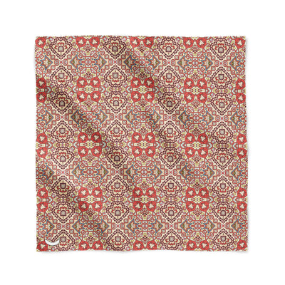 Banana Bandanas Totally Tapestry overripe bandana geometric rug cardog red spread flat photo