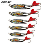 Goture Spoon Metal Lures Pure Silver Spinner Bait