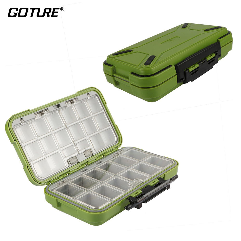 Goture New Design Fishing Tackle Boxes Double Layer 30 Compartments