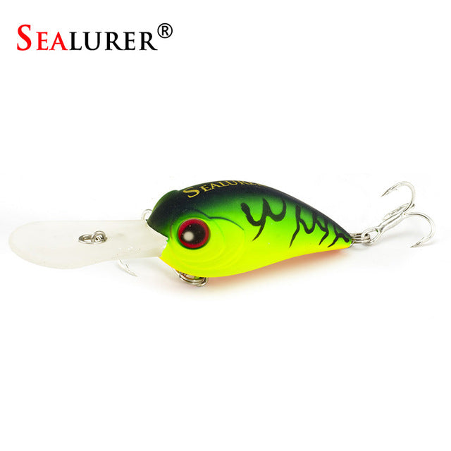 SEALURER 3D Eyes Fishing Lures - Float Crankbait - Minnow  Wobblers