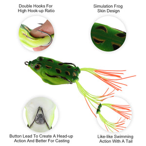 Goture High Quality Soft Fishing Lure Wobbler Frog
