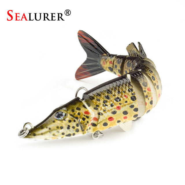 9 - segment Isca Artificial Pike Lure Muskie Fishing Lures