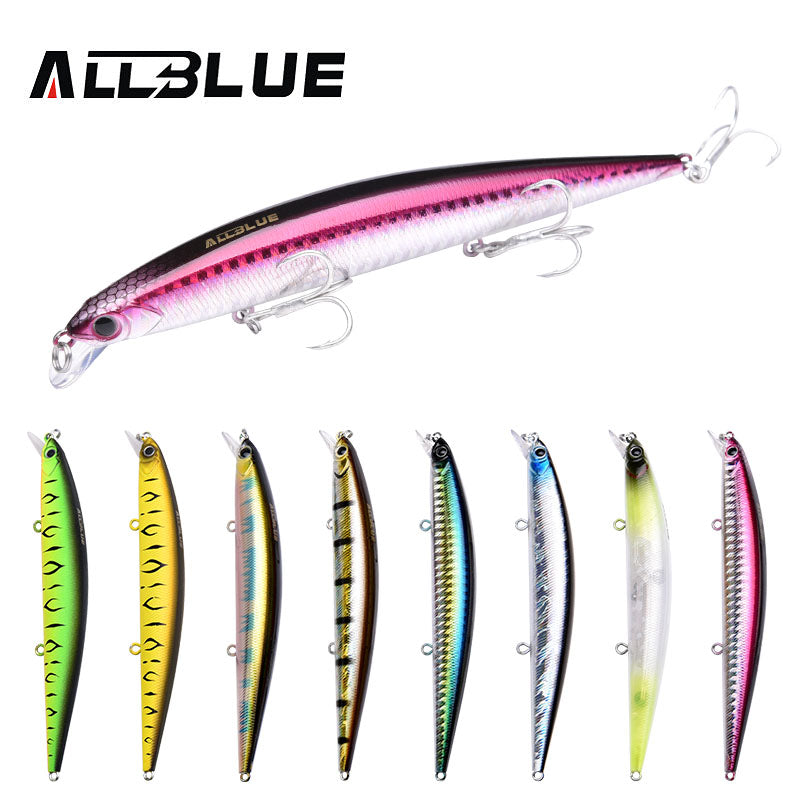 ALLBLUE TYRANTJERKBAIT Floating Minnow With Tungsten Ball  6# Hooks