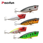 PiscifunFishing Lure Popper Fishing Bait - Set of 5