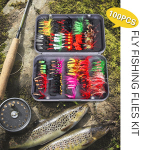 LIXADA Fly Fishing Lures - Set of 20 or 100