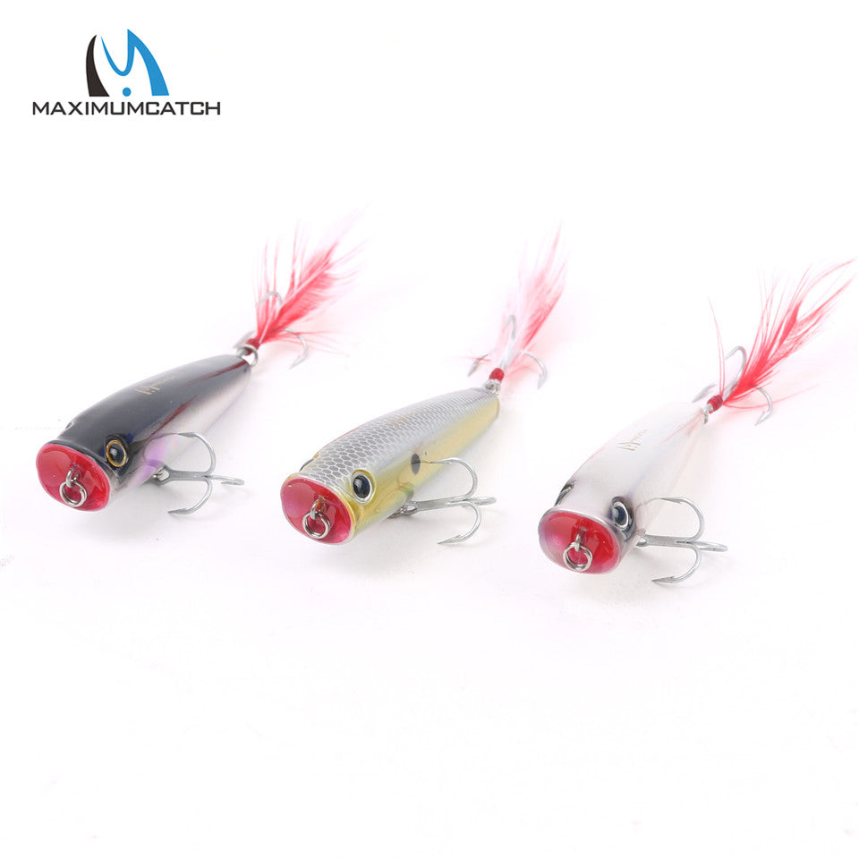 Maximumcatch Top water Hard Fishing Lures - Set of 3