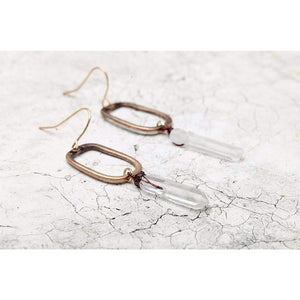 Amplify Crystal Quartz Earrings ChakrasActivated