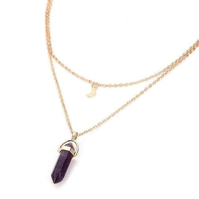 Celestial Goddess Necklace ChakrasActivated Purple Amethyst