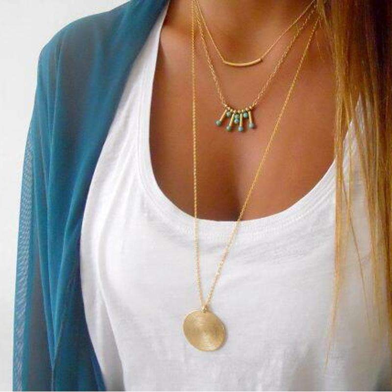 Divine Feminine Necklace ChakrasActivated Gold
