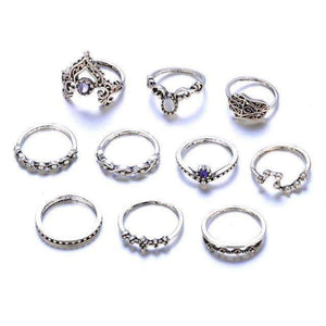 Free Spirit Stackable Ring Set ChakrasActivated