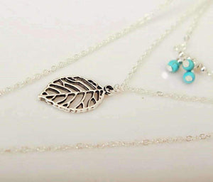 """Free Spirit"" Turquoise Leaf Multi Layer Necklace ChakrasActivated"