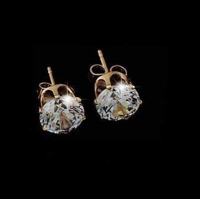 Moonlight Crystal Studs ChakrasActivated Gold