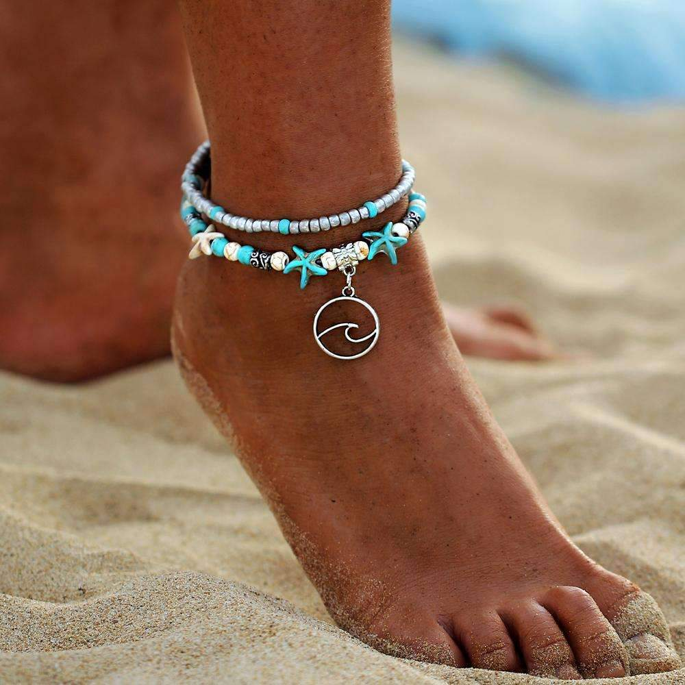 Ocean Essence Double Layer Anklet ChakrasActivated