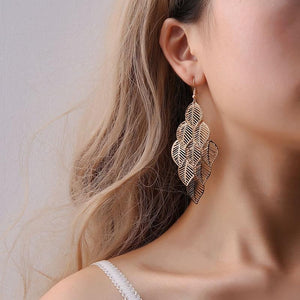 Revive Leaf Earrings ChakrasActivated Gold