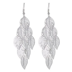 Revive Leaf Earrings ChakrasActivated Silver