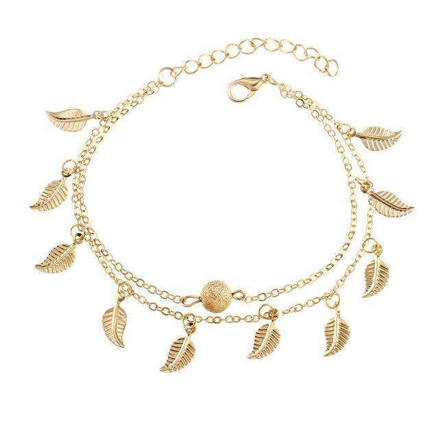 Wanderlust Breeze Duo Layer Anklet ChakrasActivated