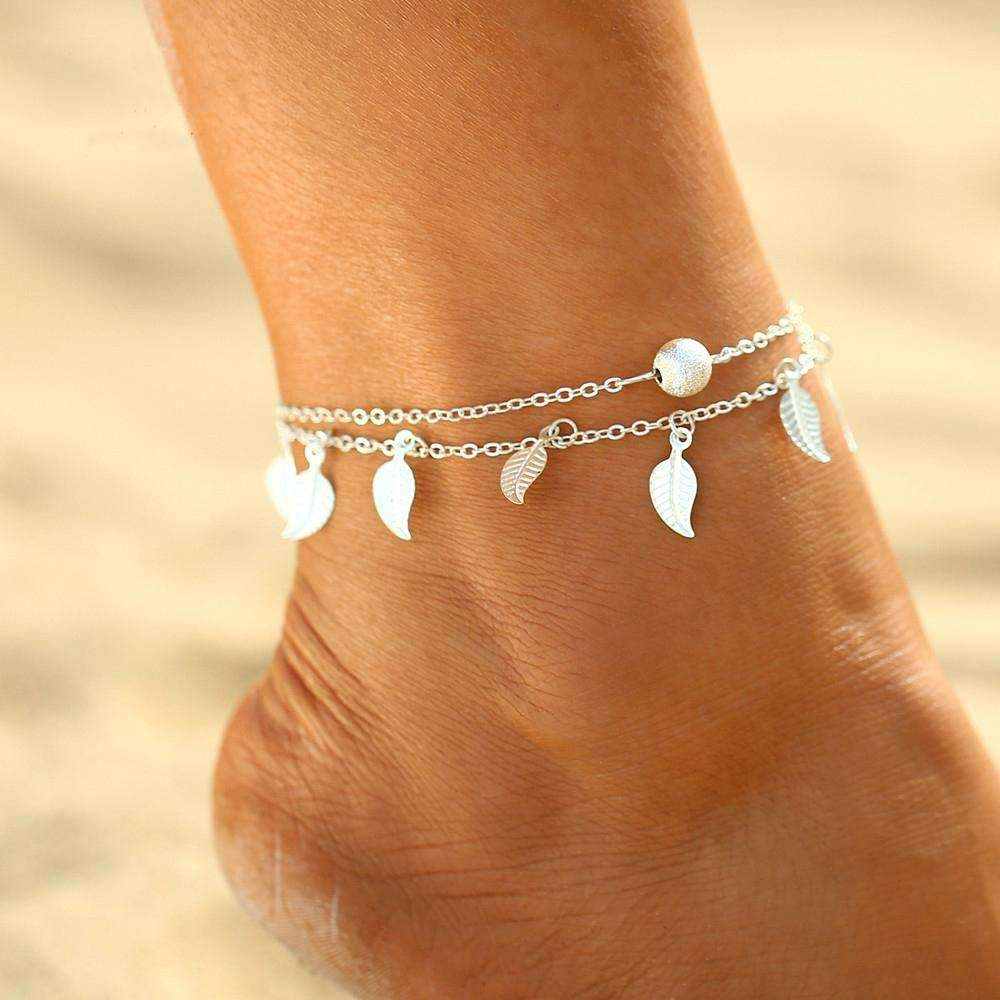 Wanderlust Breeze Duo Layer Anklet ChakrasActivated Silver