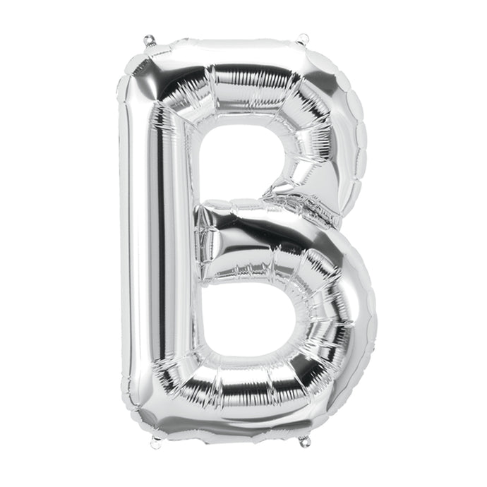 34in Letter B Silver Balloon