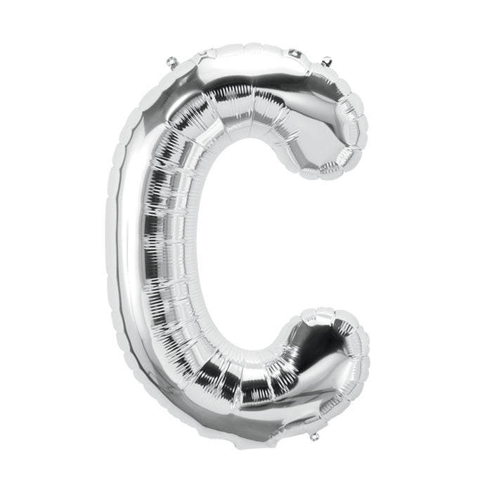 34in Letter C Silver Balloon