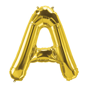 34in Letter A Gold Balloon