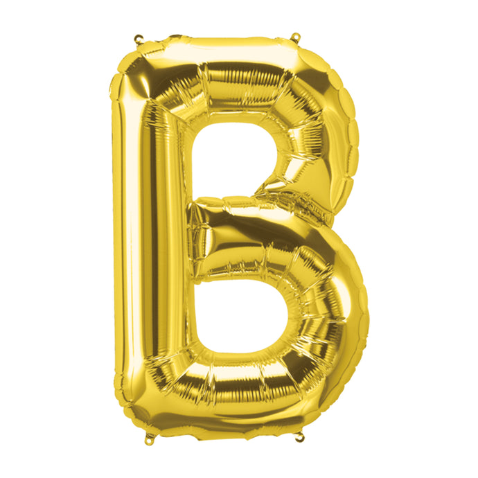34in Letter B Gold Balloon