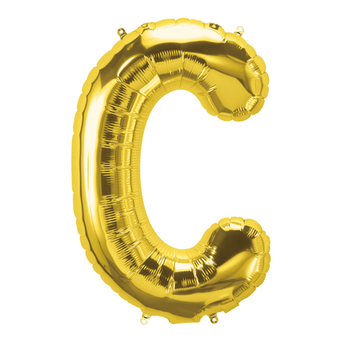 34in Letter C Gold Balloon