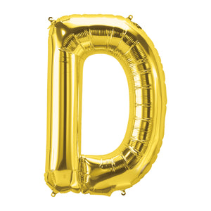 34in Letter D Gold Balloon
