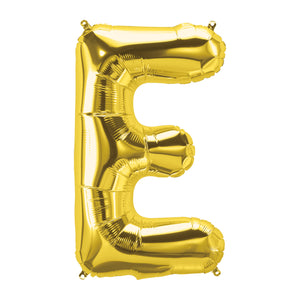34in Letter E Gold Balloon