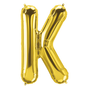 34in Letter K Gold Balloon