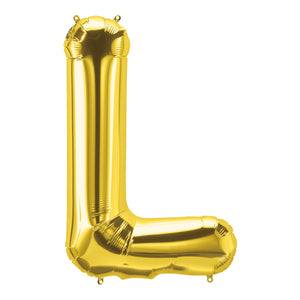 34in Letter L Gold Balloon