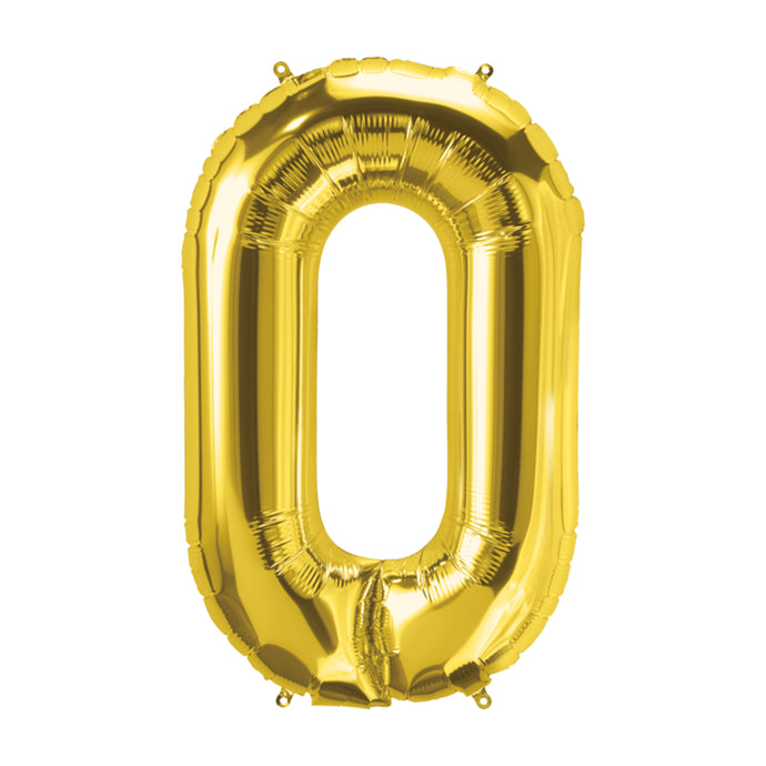 34in Letter O Gold Balloon