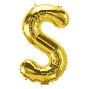 34in Letter S Gold Balloon