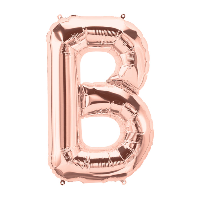 34in Letter B Rose Gold Balloon