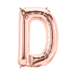 34in Letter D Rose Gold Balloon