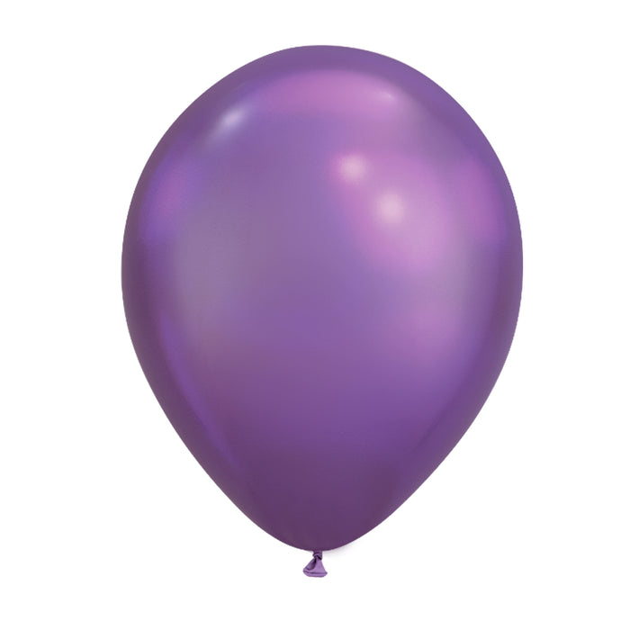 11in Chrome Purple Latex Balloons