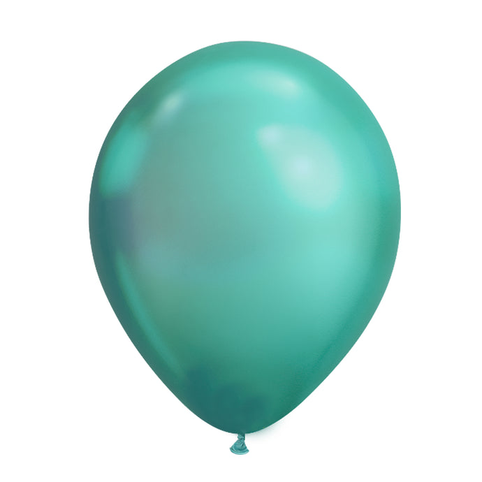 11in Chrome Green Latex Balloons