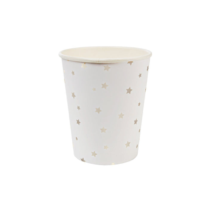 Silver Star Paper Cups - 8 Pack