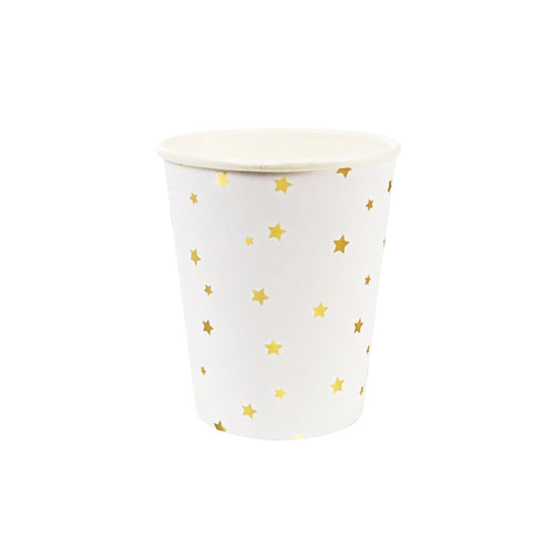 Gold Stars Paper Cups - 8 Pack