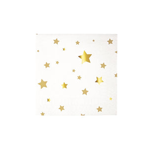 Gold Stars Small Paper Napkins - 16 Pack