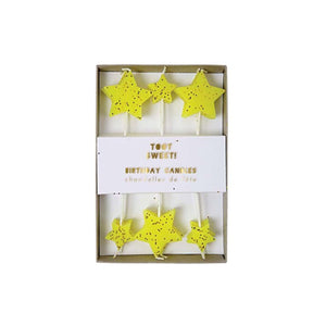 Yellow Star Candles