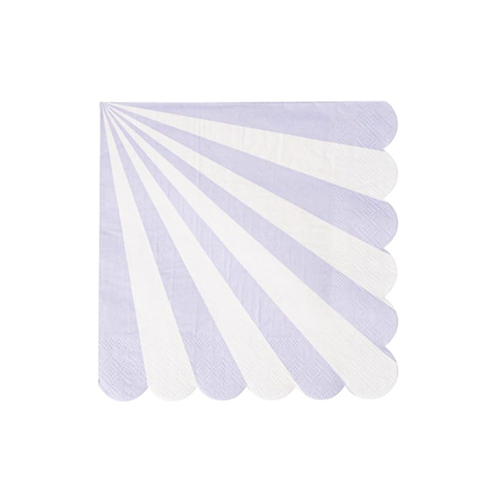 Lavender Stripe Large Napkins - 20 Pack