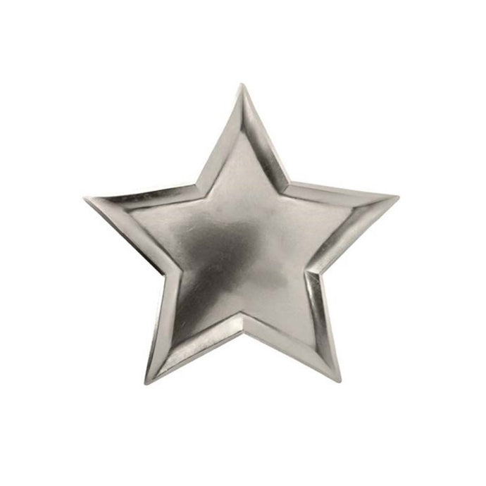 Silver Star Large Paper Plates - 8 Pack