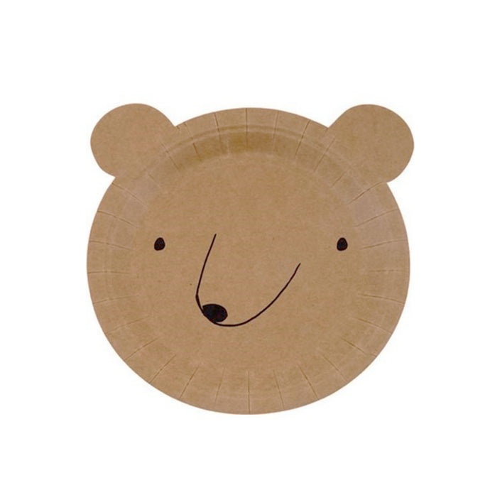 Boho Bear Small Paper Plates - 12 Pack