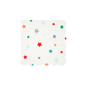 Assorted Color Stars Small Paper Napkins