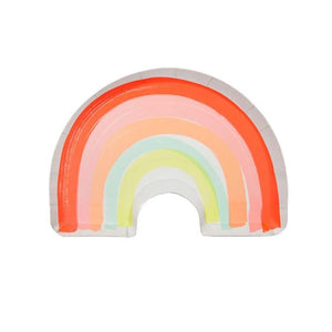 Neon Rainbow Large Paper Plates